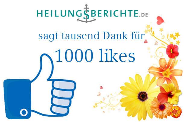 Heilungsberichte sagt Danke für 1000 likes