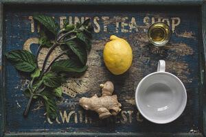 Honig-Zitrone-Ingwer